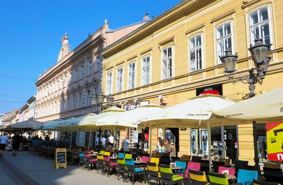 Novi Sad on viehättävä yliopistokaupunki.