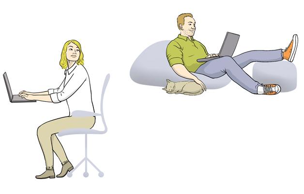 Telma 1/2019 Ajatelma Istumisen ergonomia etätyössä Arto Pesola