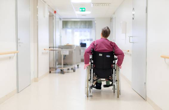 Rollators, wheel chairs, and other devices are kept in their own specified storage places. It is easier for the personnel to work and the patients to move about when the equipment are not kept in the corridor.